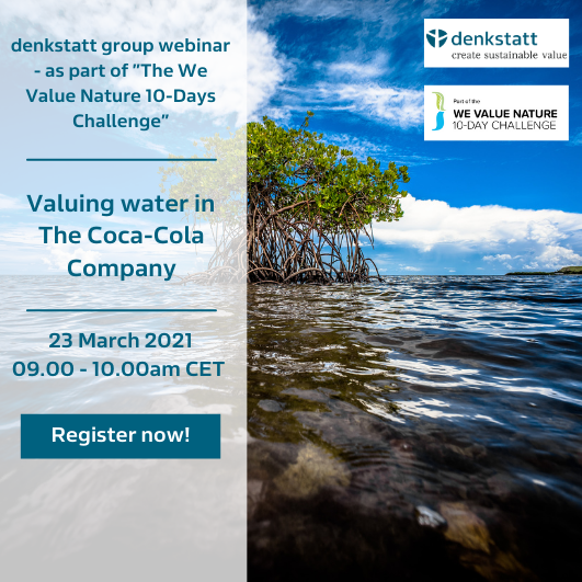 we value nature webinar series valuing water website
